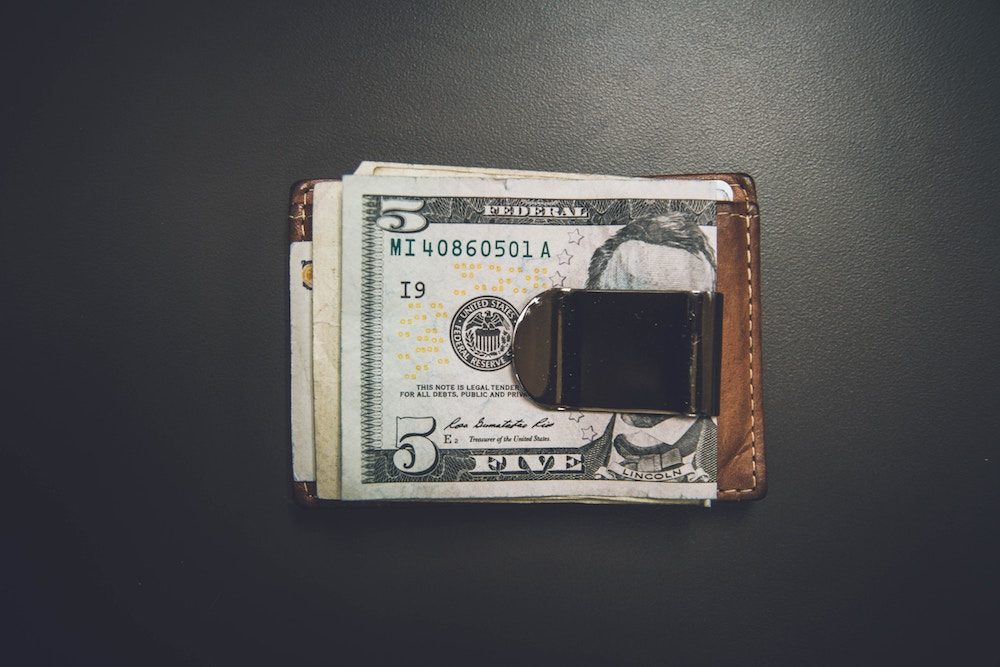 Wallet with Cash - Spend Wisely