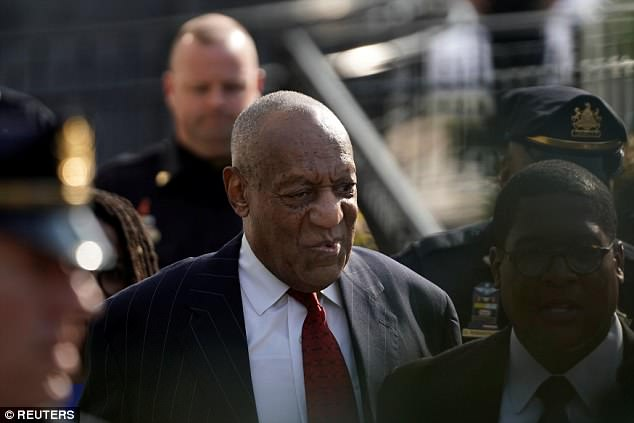 Back in action: Five women have been approved to testify alongside Andrea Constand at the upcoming retrial of Bill Cosby (above at a pretrial hearing on Thursday)